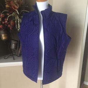 Purple Zip Front Vest